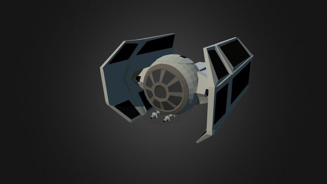 TIE Advanced (Star Wars Contest 2015) 3D Model