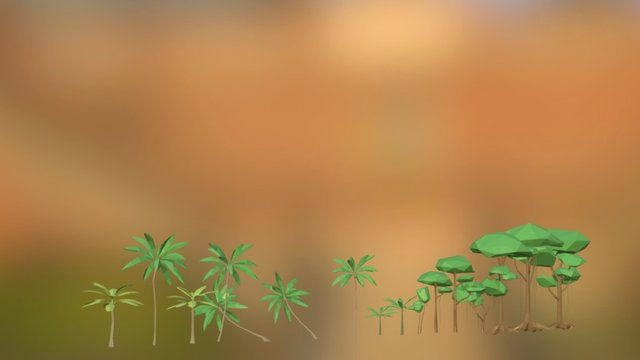 Pack Of Low Poly Nature 3 3D Model