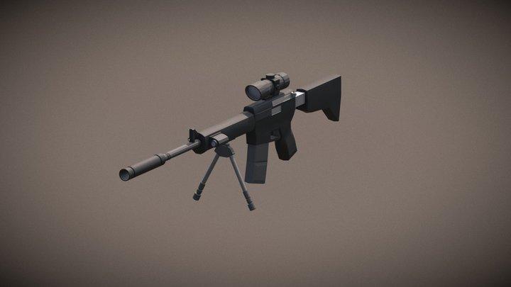AR15w Attachments 3D Model