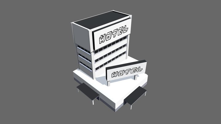 Hotel Small 3D Model