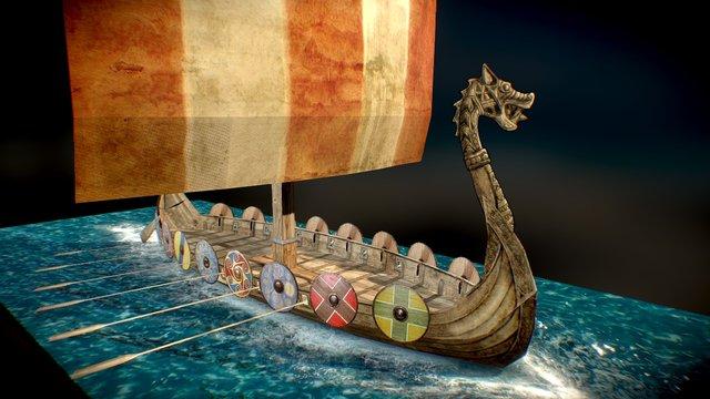Viking longship - Papercraft 3D Model