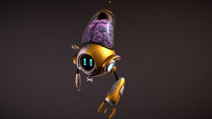 Lowpoly_Character_Robot_Chappy 3D Model