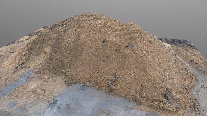 Large heap pile of construction sand 3D Model