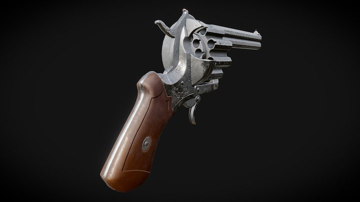 20-Round Revolver (Old version) 3D Model