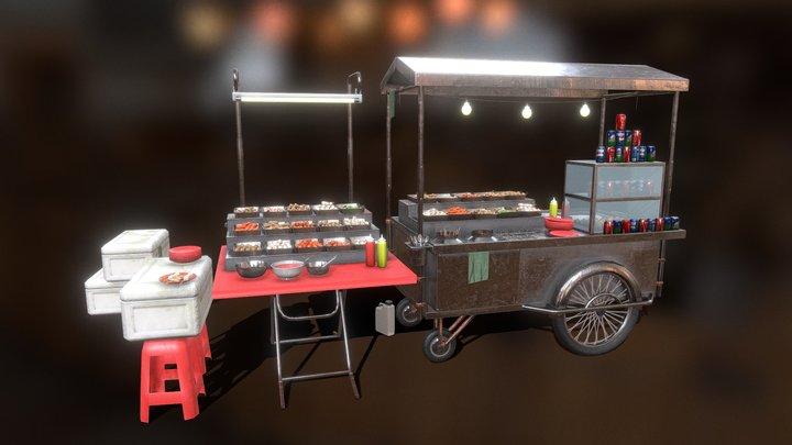 Local Steamboat Vendor 3D Model