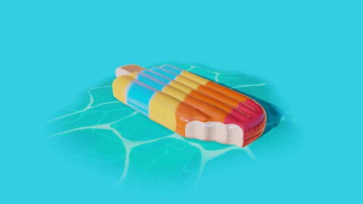 Inflatable Ice Cream 3D Model