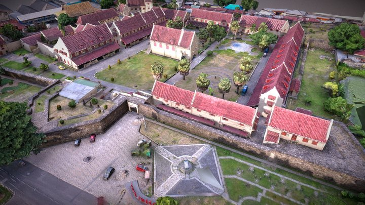 Fort Rotterdam Makassar 3D Model