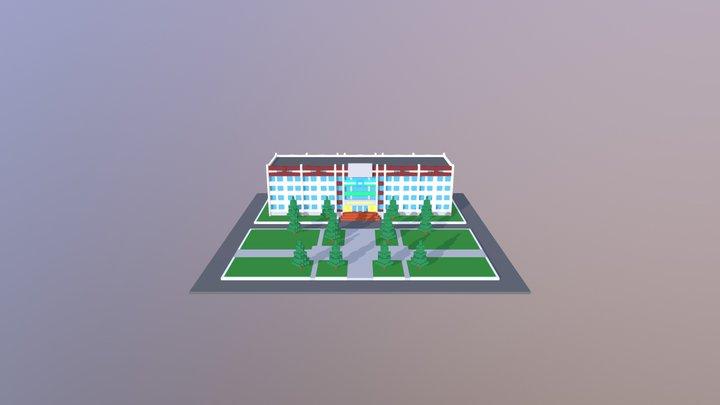 Главный корпус СФ БашГУ 3D Model