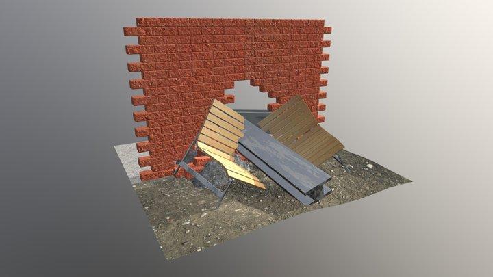 Rubble Scene 3D Model
