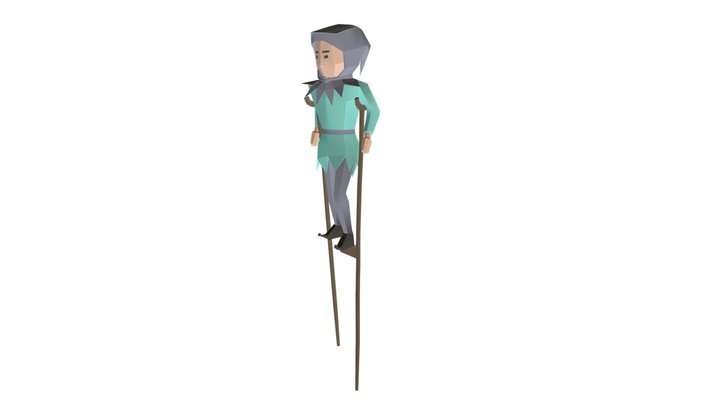 Tumbler On Stilts 3D Model