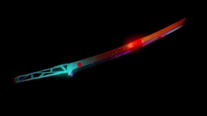 Futuristic Wakizashi Blade 3D Model