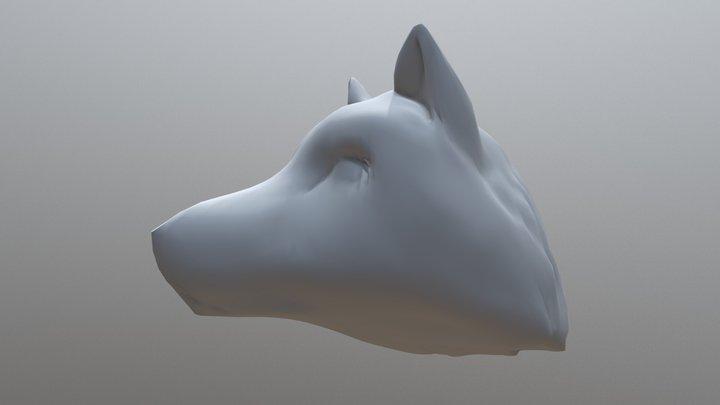My first 3D sculpting: Dog 3D Model