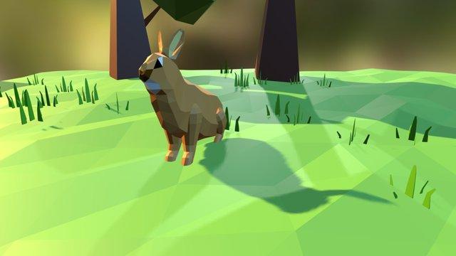 Low Poly Rabbit 3D Model