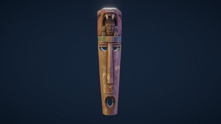 Wood Carved Mask 3D Model