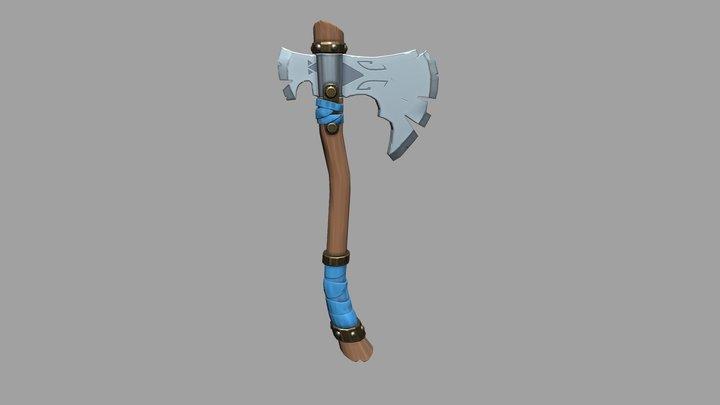 Stylized Axe 3D Model