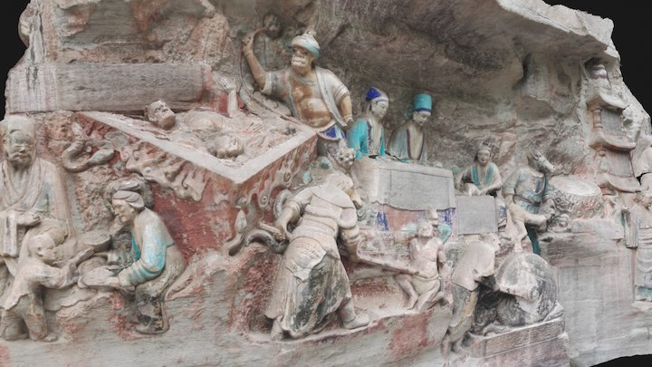 Dazu Rock Carvings (Model 6) 3D Model