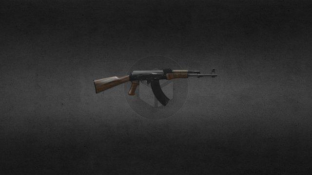 Ak47 Fully Detailed 3D Model