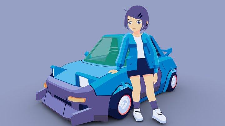 Nradiowave's Character 3D Model