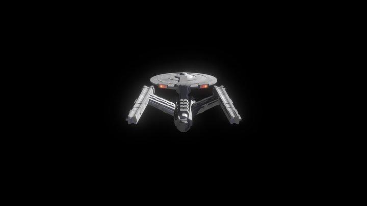 USS Equinox, non-canon Star Trek starship 3D Model