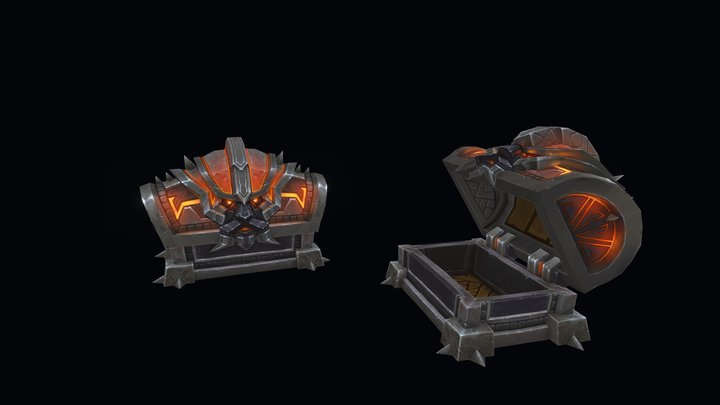 Dark Iron Chest 3D Model