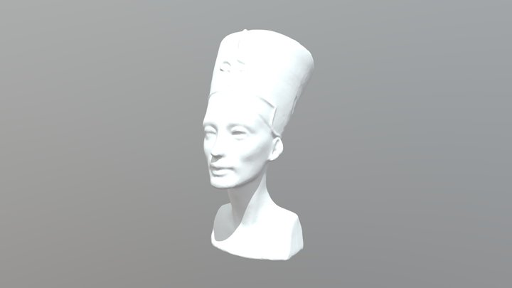 Bust Of Queen Nefertiti 3D Model