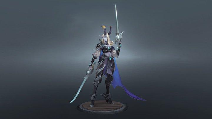 Dark Elf 3D Model