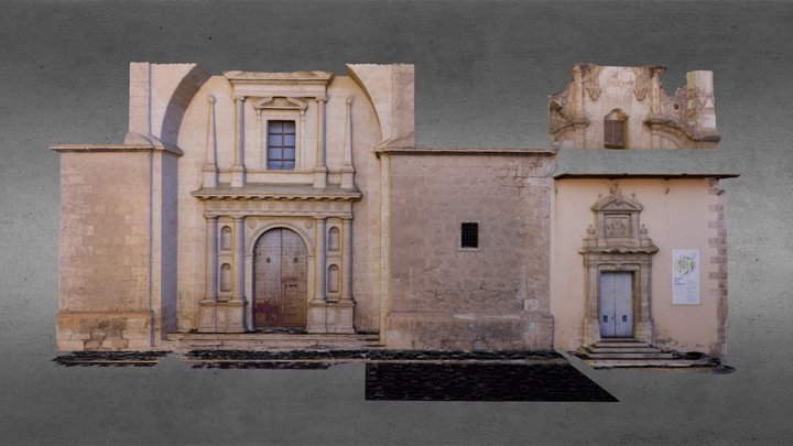Fachada Iglesia S. XVI en Ayora (Valencia) 3D Model