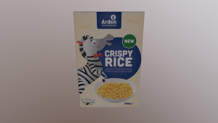 Arden Cereal - Crispy Rice - 3D View - 1 3D Model