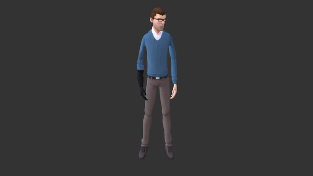 Mark - Low poly game character 3D Model