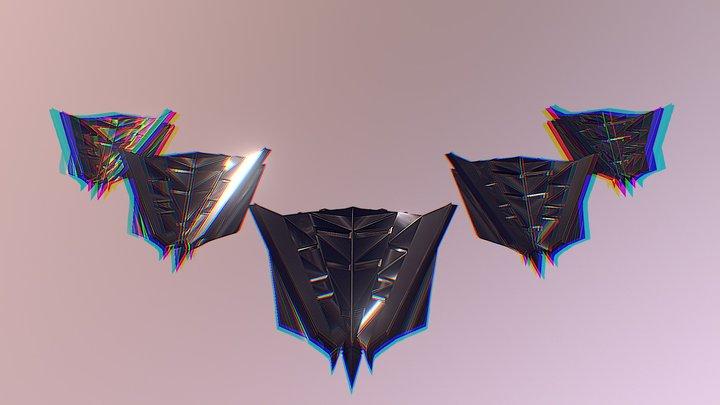 Spaceship Stealth Squad 3D Model