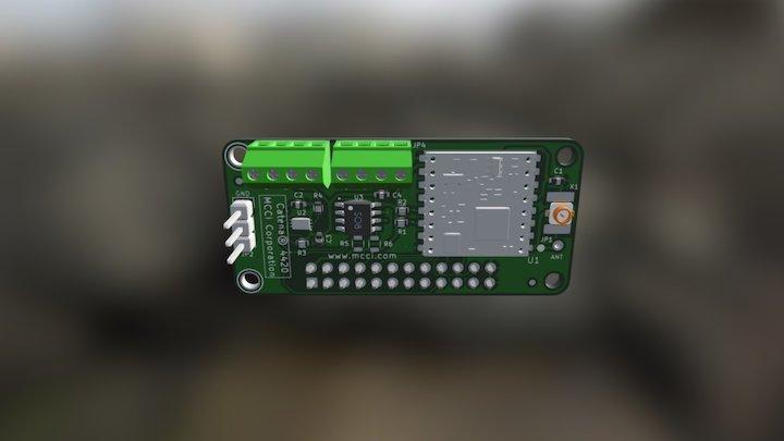 Catena-4420-MCCI- LoRa- Adapter- Board- For-MDP 3D Model