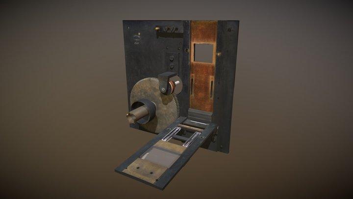 Montageplaat Achterkant2 3D Model