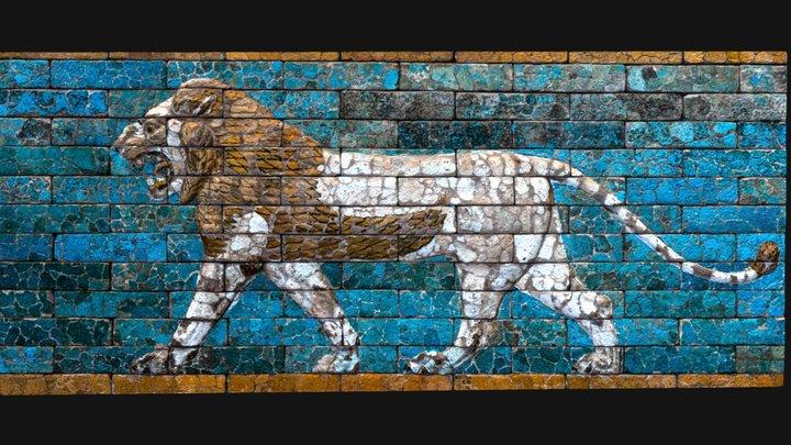 Passing lion Babylon 3D Model