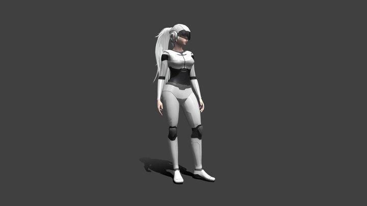 Girl Scifi 3D Model