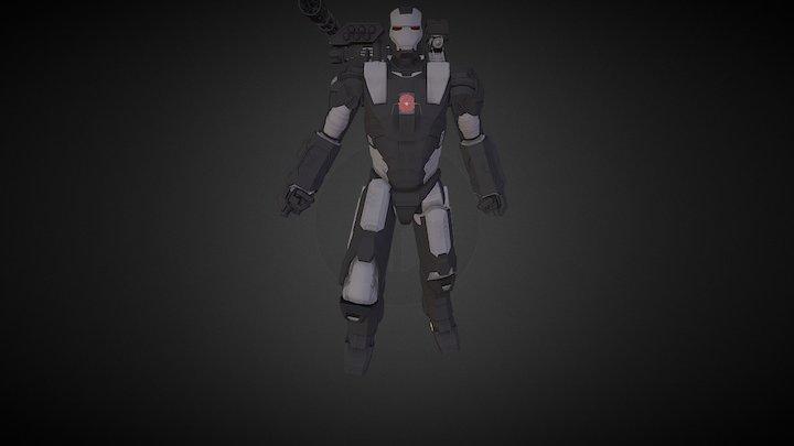 Iron Man 2 War Machine 3D Model