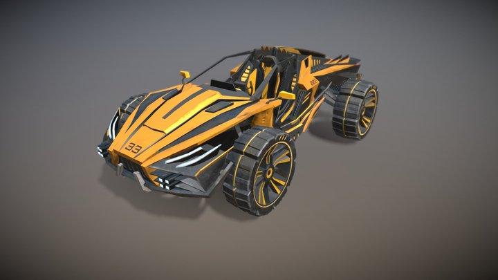 Racing Buggy game asset 3D Model