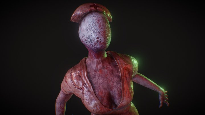 Nurse - Silent Hill Fan Art 3D Model