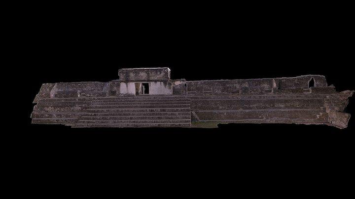 Structure A2 at Cahal Pech 3D Model