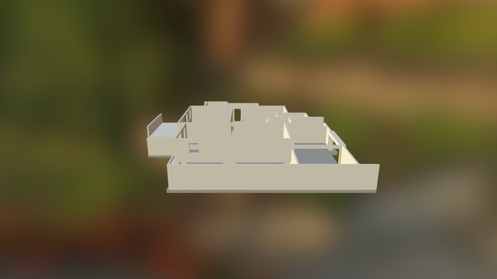Modélisation Residence Jules Verne 3D Model