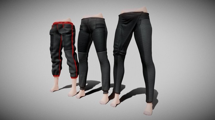 Pants for Ray II Demo 3D Model