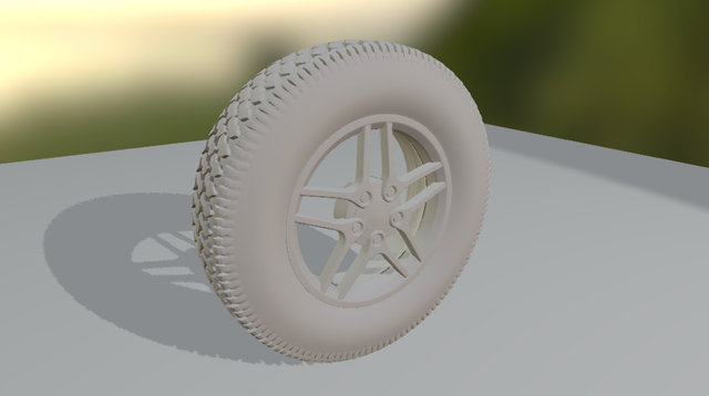 topsailor's Blender Wheel with Modifiers 3D Model