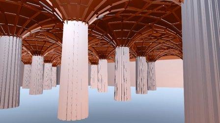 Vaulted ceiling VR2 3D Model