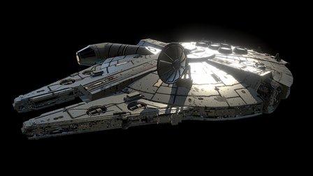 Millennium Falcon 3D Model