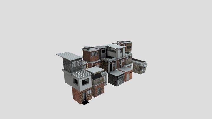 Modular Slums 3D Model