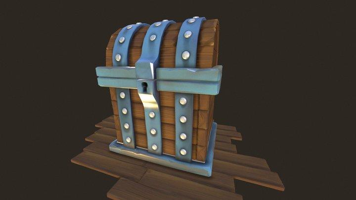 Cartoon Chest 3D Model
