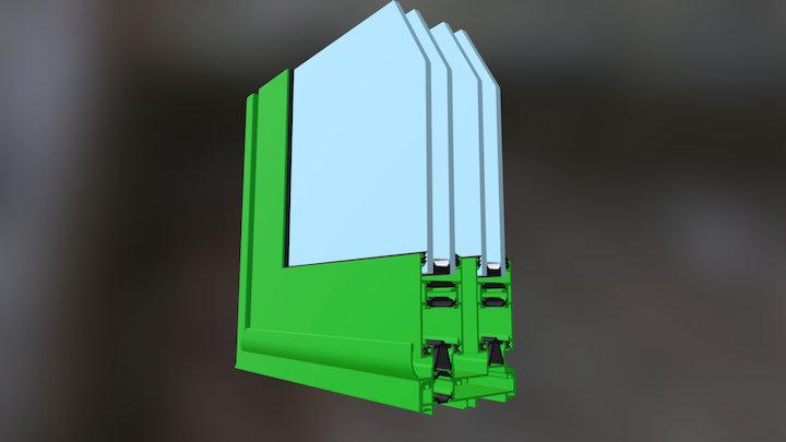 Esquina QGOSS Inglete 3D Model