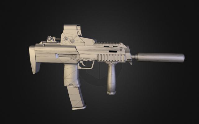 MP7 SMG 3D Model