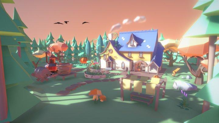 Healer house/shop crazy pumpkin 3D Model