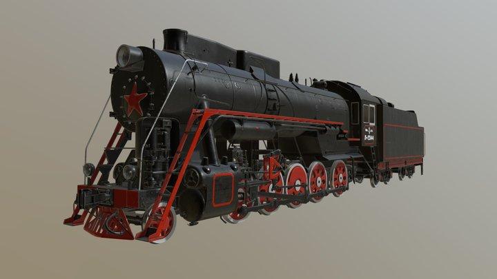 Soviet locomotive L-series 3D Model