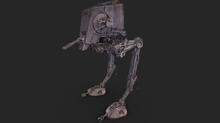 Star Wars AT ST (All Terrain Scout Transport) 3D Model